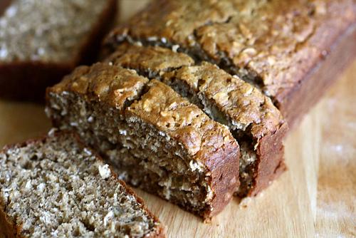 Vegan Protein Banana Oatmeal Bread
